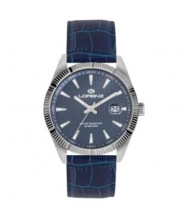 Orologio Lorenz Date Classic pelle blu / blu