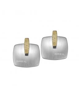 Orecchini Breil New Blast acciaio / champagne