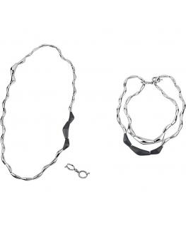 Collana Breil Flowing donna acciaio / nero