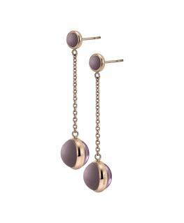 Orecchini Breil Glassy donna acciaio oro rosa / viola