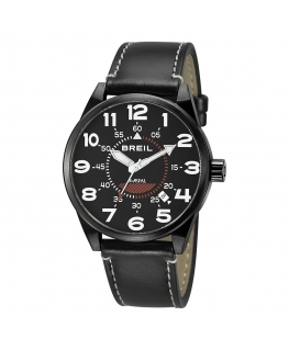 Orologio Breil Flight Control pelle nero - 44 mm