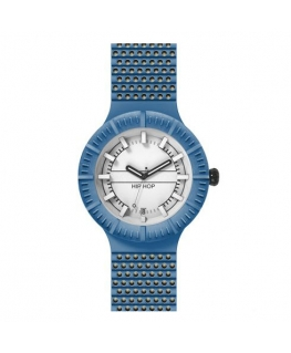 Orologio Hip Hop Man blu / bianco - 42 mm