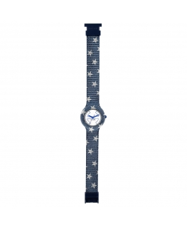Orologio Hip Hop Jeans Star blu / bianco - 32 mm