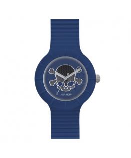 Orologio Hip Hop Skull uomo blu - 42 mm