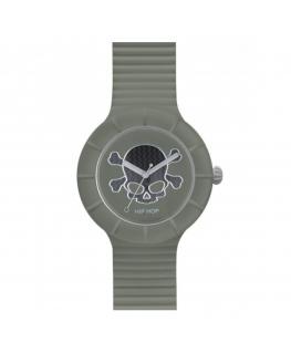 Orologio Hip Hop Skull uomo verde - 42 mm