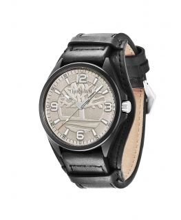 Timberland Sebbins 3 hands black leather strap