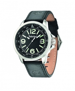 Timberland Caswell 3 hands date black leather stra