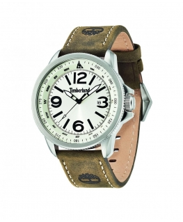 Timberland Caswell 3 hands date brown leather stra