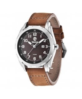 Timberland Newmarket 3 hands date brwon leather st