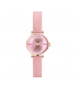 Furla Mirage 21mm 2h w/silver dial pink st