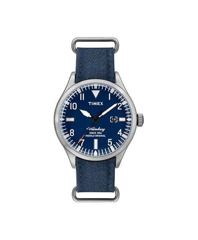 Orologio Timex Waterbury data blu - 40 mm - galleria 1