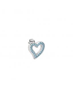 La Petite Story Stud earrings ss heart with blue crystal