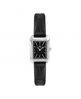 Philip Watch Eve 30.6x21.5mm 2h black dial black st