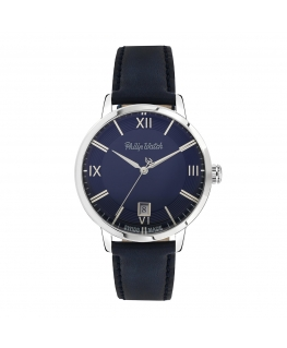 Philip Watch Grand archive 1940 39mm 3h blue dial b s