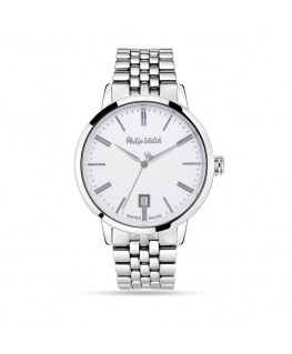 Philip Watch Grand archive 1940 39mm 3h whi dial ss b