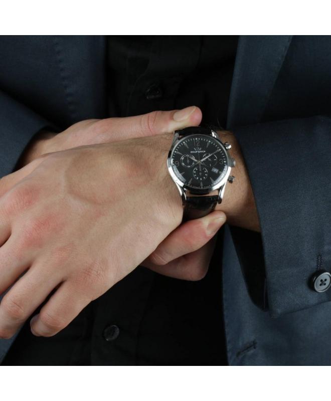 Orologio Philip Watch Sunray uomo pelle nero - 41 mm - galleria 3