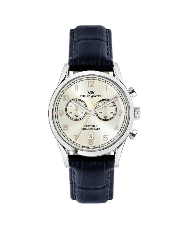 Orologio Philip Watch Sunray pelle chrono 39 mm - galleria 1