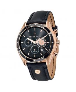 Orologio Maserati Sorpasso chrono pelle nero 45 mm