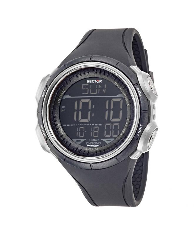 Orologio digitale Sector Ex-22 nero / grigio 44 mm uomo - galleria 1