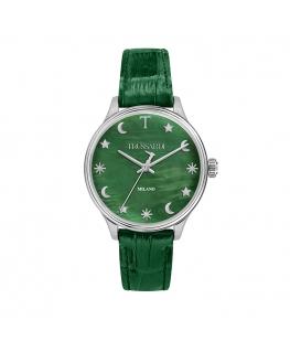 Orologio Trussardi T-complicity pelle verde 34 mm