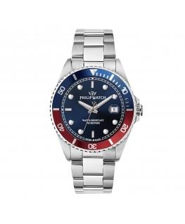 Orologio Philip Watch Caribe uomo blu / rosso 42 mm