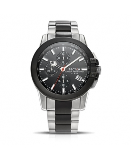 Orologio Sector 480 chrono acciaio nero 45mm
