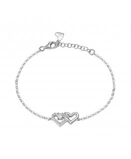 Bracciale Morellato Cuori argento 16+3 cm