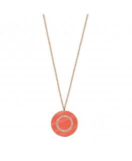 Collana Morellato Perfetta argento oro rosa / orange 45 cm