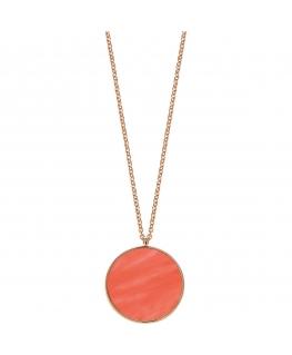 Collana Morellato Perfetta argento oro rosa / orange 80 cm