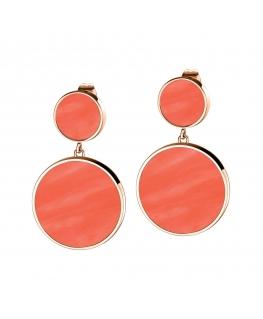 Orecchini Morellato Perfetta argento oro rosa / orange