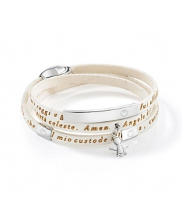 Bracciale Sector Love and love bianco 47 cm