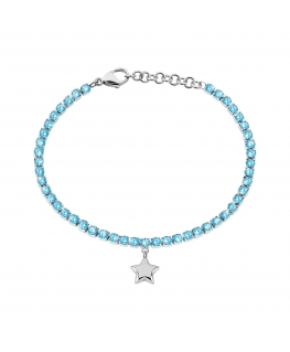 Bracciale Sector Tennis azzurro / stella 16+3 cm