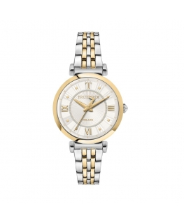 Trussardi T-twelve 34mm 3h whisilver dial br ss+y