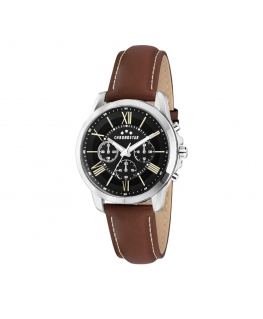 Chronostar Sporty 44mm multi black dial brown st