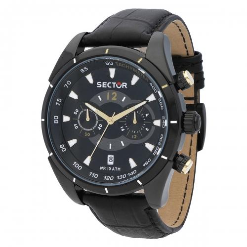 Orologio Sector 330 45mm crono nero
