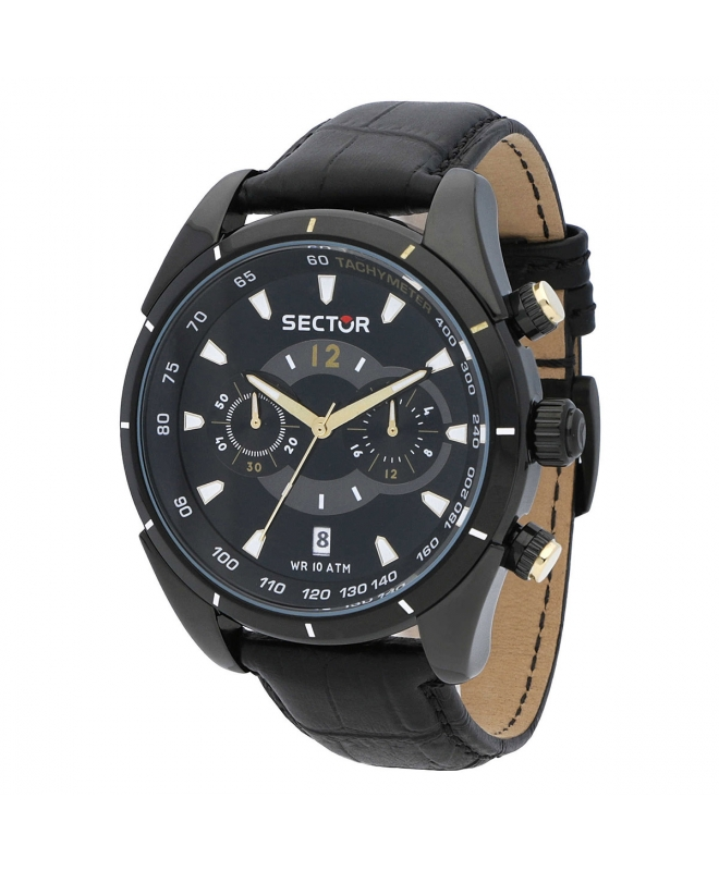 Orologio Sector 330 45mm crono nero - galleria 1