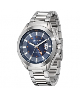 Orologio Sector 720 44mm gmt 3h blue dial br ss