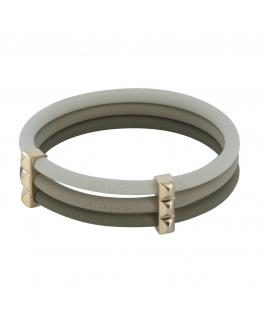 Bracciale Hip Hop Happy Loops Borchie - grigio Ø 6.5 cm