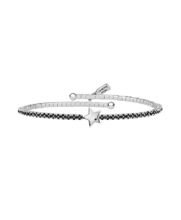 La Petite Story Lux bangles br.central star with blk cz