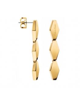 Orecchini Calvin Klein Snake acciaio dorato