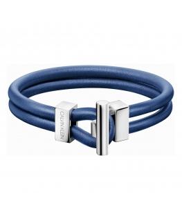Bracciale Calvin Anchor uomo blu - 19 cm