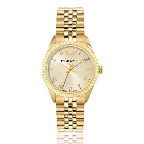 Orologio Philip Watch Caribe dorato donna 35 mm R8253597518