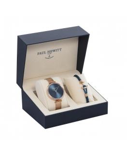 Paul Hewitt Perfect match petrol watch + short strap