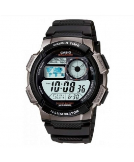Orologio Casio Illuminator World Time nero - 46 mm