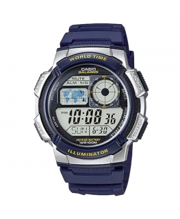 Orologio Casio Illuminator World Time blu - 46 mm