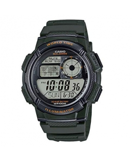 Orologio Casio Illuminator World Time verde - 46 mm