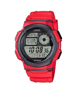 Orologio Casio Illuminator World Time rosso - 46 mm