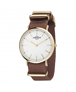 Chronostar Preppy gent 40mm 2h white dial brown st
