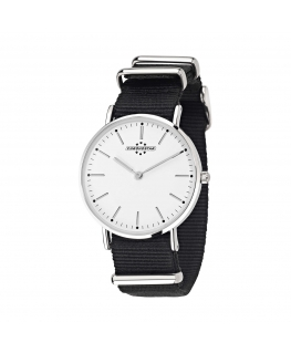 Chronostar Preppy lady 36mm 2h wht dial blk nato st