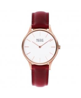 Orologio Nicole Vienna pelle rosso - 34 mm donna NV00100032